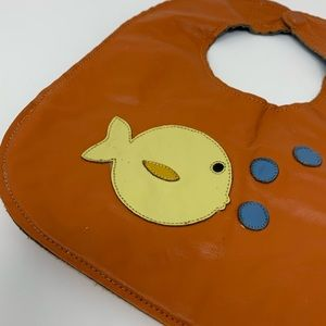 LUCKY SPILLS MALLY BIB MAGNETIC REVERSIBLE LEATHER